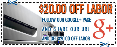 Appliance Repair Google+ Discount Coupon - Click to Print