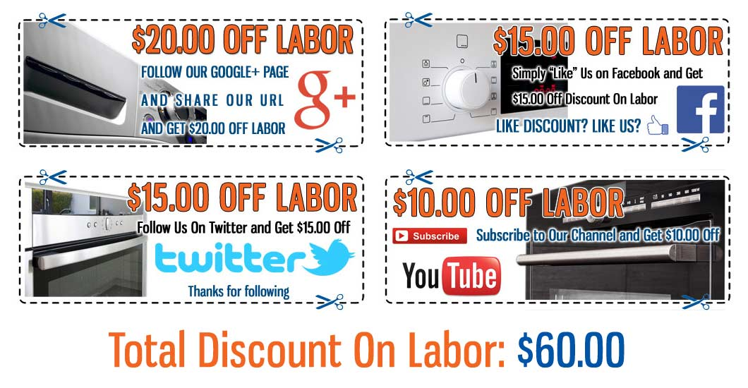 Multi Discount Appliance Repair Coupons - Click to Print