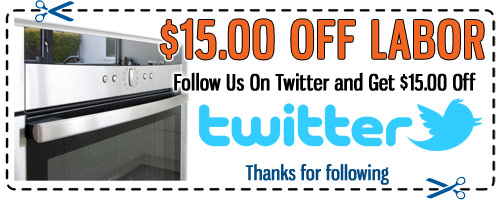 Appliance Repair Twitter Discount Coupon - Click to Print