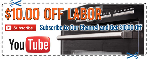 Appliance Repair YouTube Discount Coupon - Click to Print
